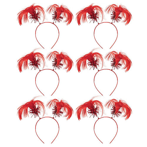 Red Ponytail Head Boppers 10ct Image #1