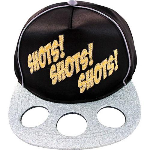 Black, Gold & Silver Shots Baseball Hat Image #1