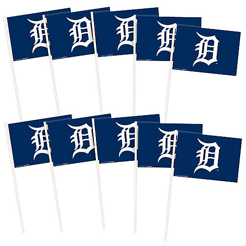 Blue Detroit Tigers Mini Flags 12ct Image #1