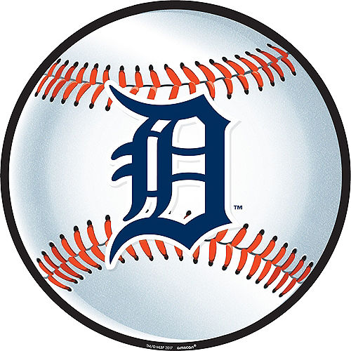 Blue and White Detroit Tigers Cutout Image #1