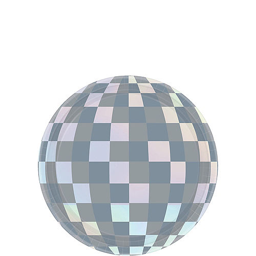 Disco Ball Dessert Plates 8ct Image #1