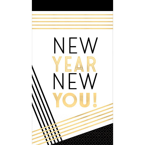 Metallic Gold New Year New You Guest Towels 16ct Image #1