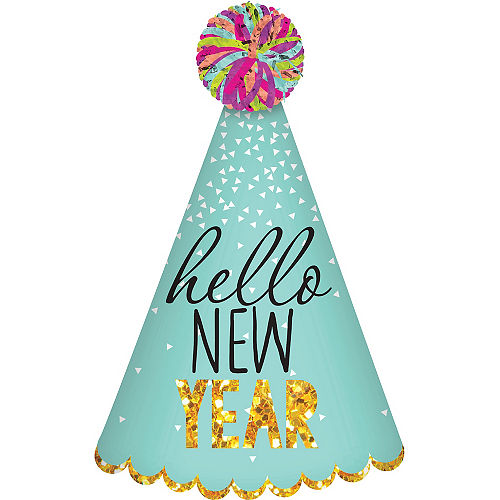 Hello New Year Party Hat Image #1