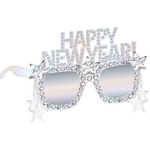 Iridescent Happy New Year Sunglasses Image #1