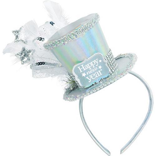 Iridescent Happy New Year Top Hat Headband Image #2