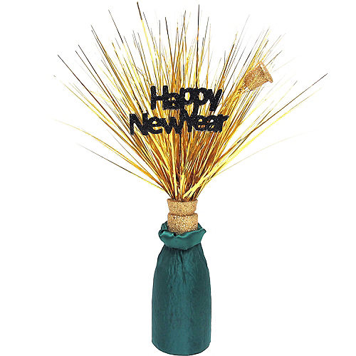 Happy New Year Champagne Bottle Spray Centerpiece Image #1