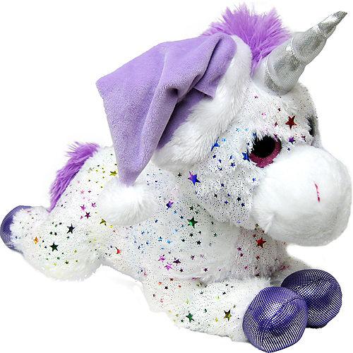 Purple & White Santa Unicorn Plush Image #1