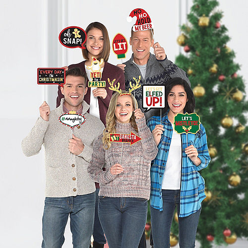 Christmas Photo Booth Props 13ct Image #1