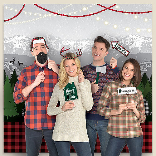 Cozy Christmas Scene Setter with Photo Booth Props Image #1