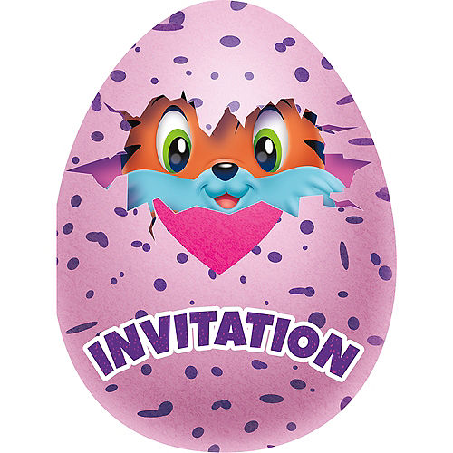 Hatchimals Invitations 8ct Image #1