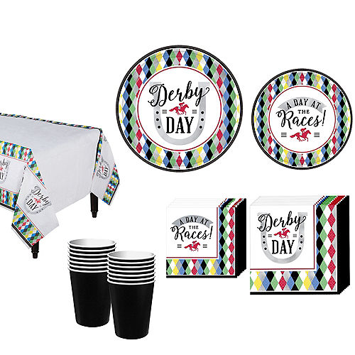 Kentucky Derby 147 Tableware Kit for 8 Guests Image #1