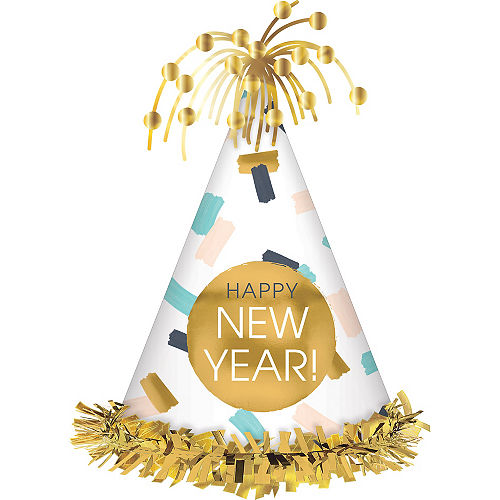 Colorful Confetti Happy New Year Party Hat Image #1