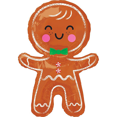 Giant Gingerbread Man Balloon, 22in Image #1