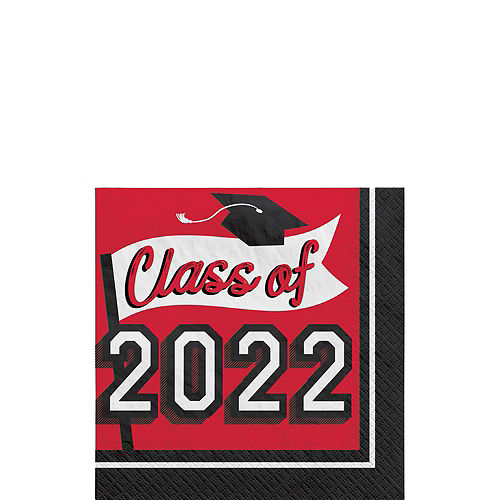 Congrats Grad Red Graduation Party Kit for 36 Guests Image #5