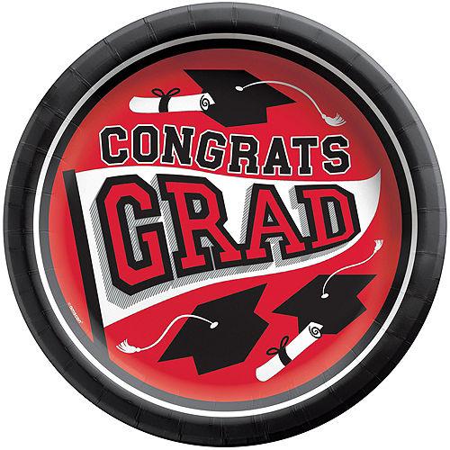 Super Congrats Grad Red Graduation Party Kit for 54 Guests Image #3