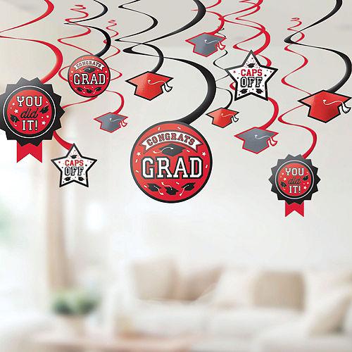 Super Congrats Grad Red Graduation Party Kit for 54 Guests Image #8