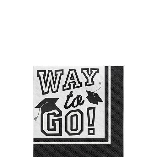 Congrats Grad Blue Graduation Tableware Kit for 18 Guests Image #4