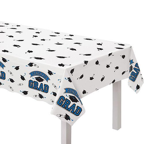 Congrats Grad Blue Graduation Tableware Kit for 18 Guests Image #7
