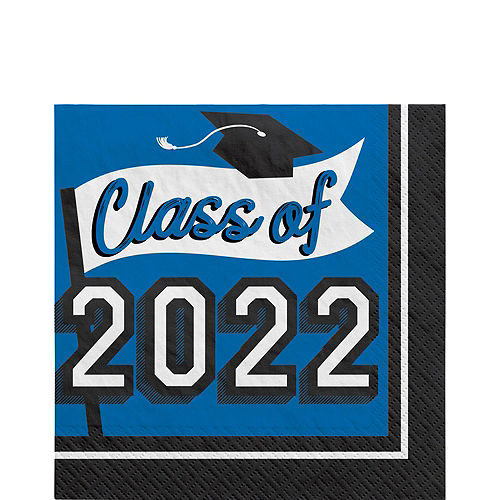 Super Congrats Grad Blue Graduation Party Kit for 54 Guests Image #5