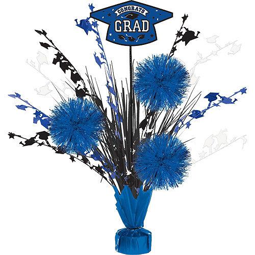 Super Congrats Grad Blue Graduation Party Kit for 54 Guests Image #9