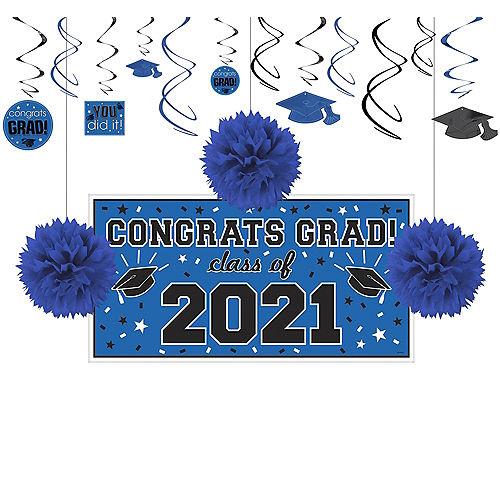 Congrats Grad Blue Graduation Decorating Kit Image #1