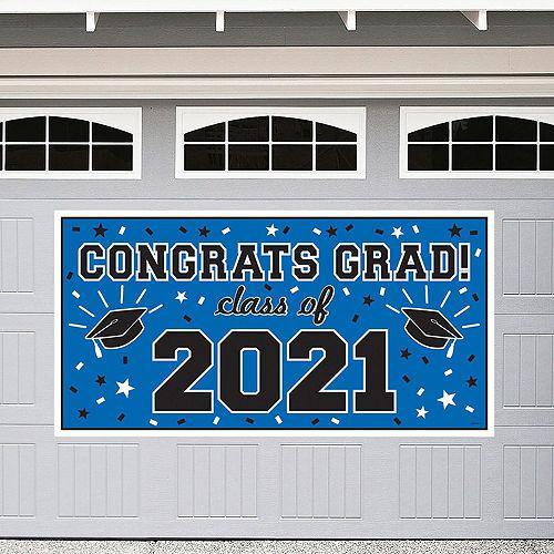 Congrats Grad Blue Graduation Decorating Kit Image #2