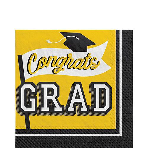 Super Congrats Grad Yellow Graduation Party Kit for 54 Guests Image #5