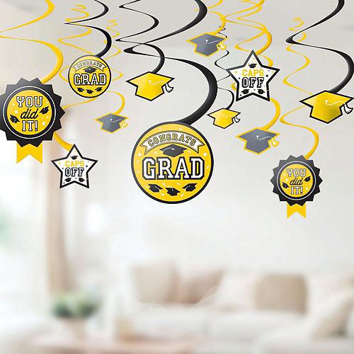 Super Congrats Grad Yellow Graduation Party Kit for 54 Guests Image #8