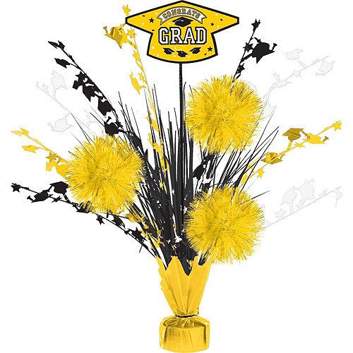 Super Congrats Grad Yellow Graduation Party Kit for 54 Guests Image #9