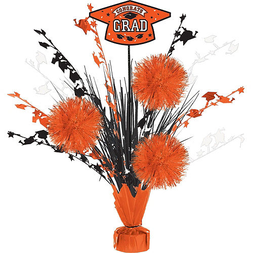 Congrats Grad Orange Graduation Tableware Kit for 18 Guests Image #8