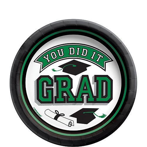 Super Congrats Grad Green Graduation Party Kit for 54 Guests Image #4