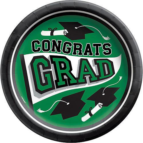 Super Congrats Grad Green Graduation Party Kit for 54 Guests Image #5