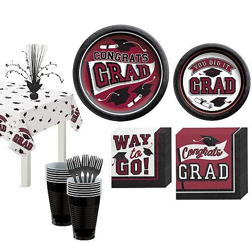Congrats Grad Berry Graduation Tableware Kit for 18 Guests Image #1