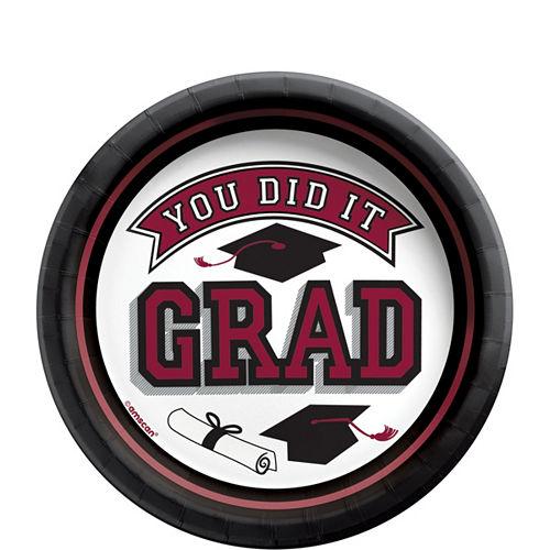 Congrats Grad Berry Graduation Tableware Kit for 18 Guests Image #2