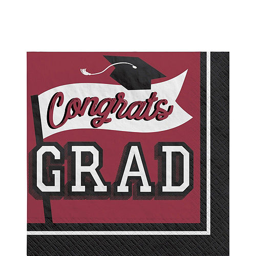Congrats Grad Berry Graduation Tableware Kit for 18 Guests Image #5