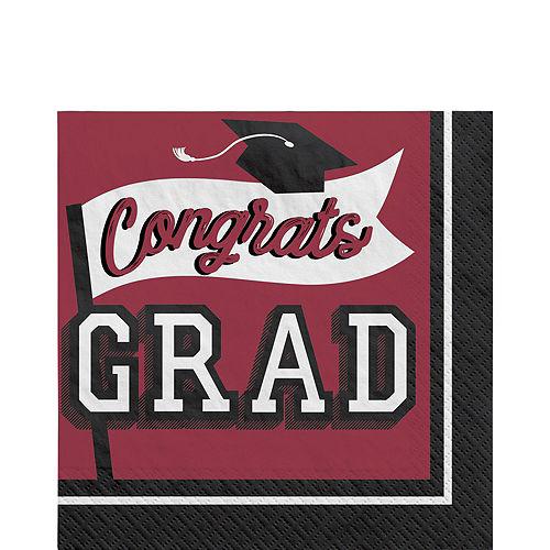 Congrats Grad Berry Graduation Tableware Kit for 18 Guests Image #5