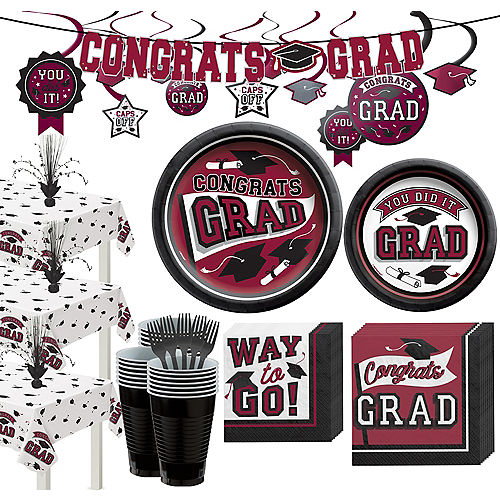 Super Congrats Grad Berry Graduation Party Kit for 54 Guests Image #1