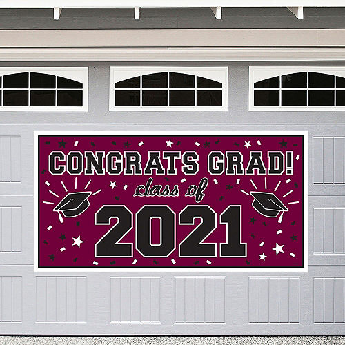 Congrats Grad Berry Graduation Deluxe Decorating Kit with Balloons Image #2