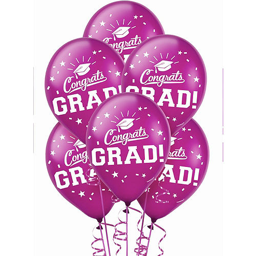 Congrats Grad Berry Graduation Deluxe Decorating Kit with Balloons Image #4