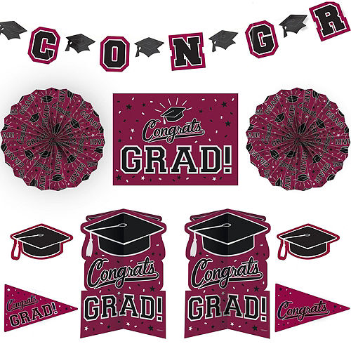 Congrats Grad Berry Graduation Deluxe Decorating Kit with Balloons Image #5