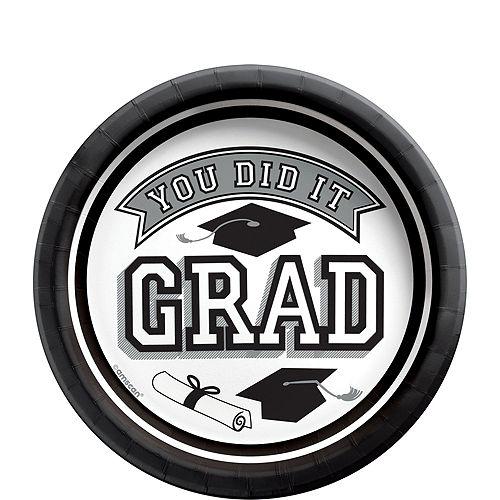 Congrats Grad White Graduation Party Kit for 36 Guests Image #2