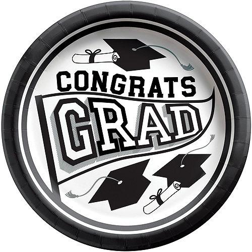 Congrats Grad White Graduation Party Kit for 36 Guests Image #3