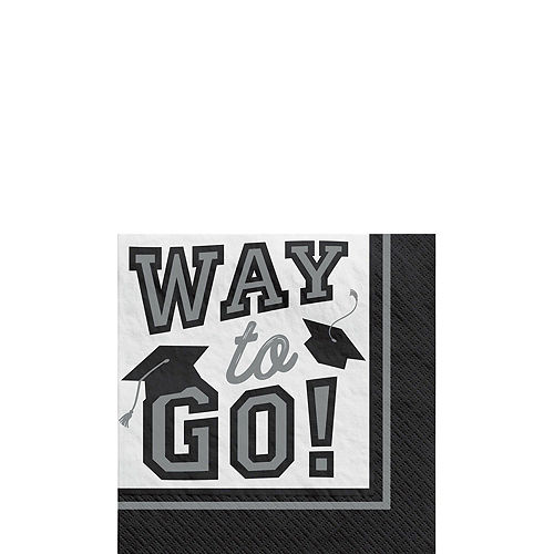 Congrats Grad Silver Graduation Party Kit for 36 Guests Image #4