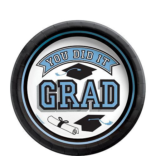 Congrats Grad Powder Blue Graduation Tableware Kit for 18 Guests Image #2
