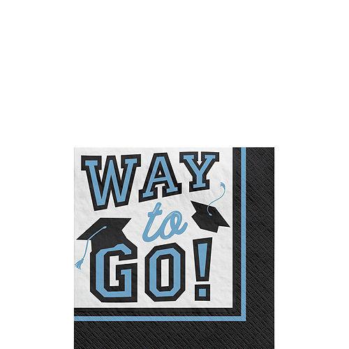 Congrats Grad Powder Blue Graduation Tableware Kit for 18 Guests Image #4
