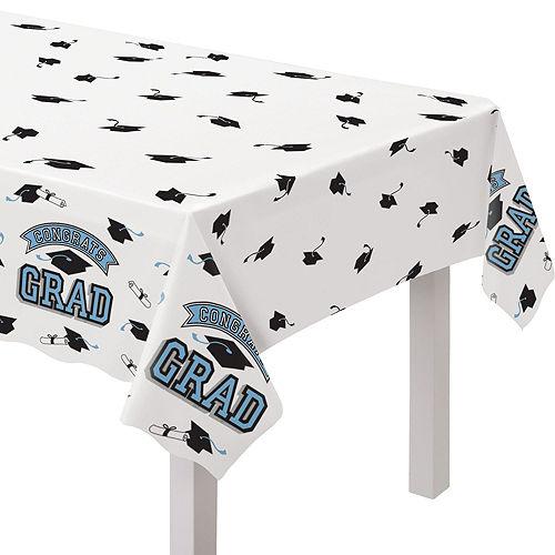 Congrats Grad Powder Blue Graduation Tableware Kit for 18 Guests Image #7