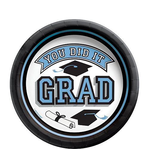 Congrats Grad Powder Blue Graduation Party Kit for 36 Guests Image #2