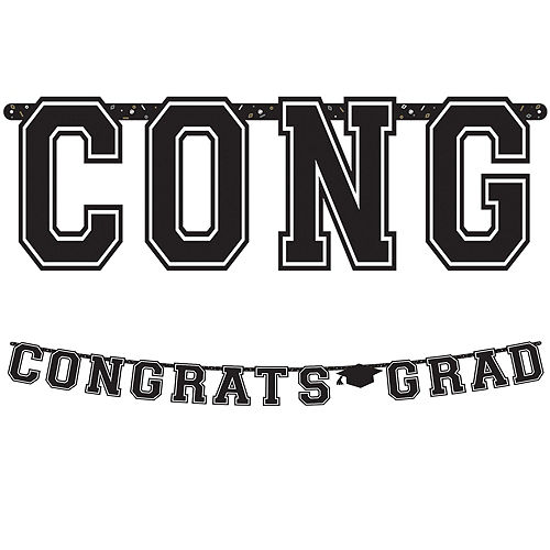 Congrats Grad Powder Blue Graduation Party Kit for 36 Guests Image #9
