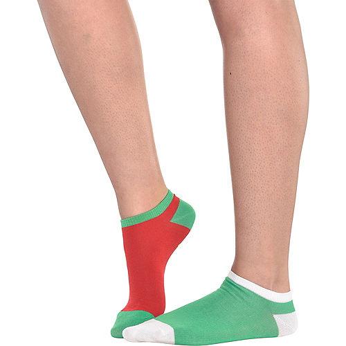 Adult Mismatched Mistletoes No-Show Socks 2ct Image #3