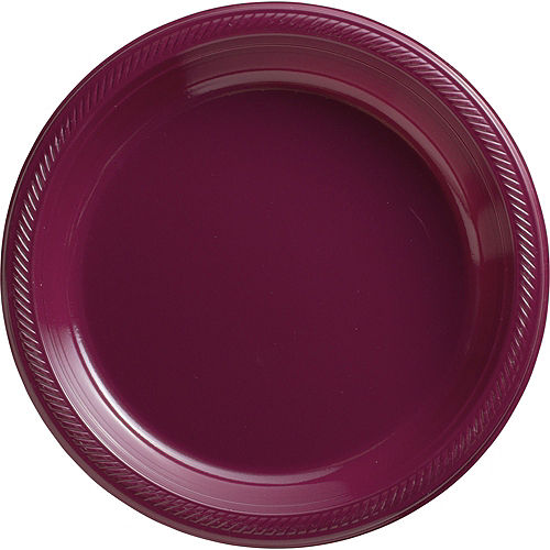 White & Berry Plastic Tableware Kit for 50 Guests Image #3